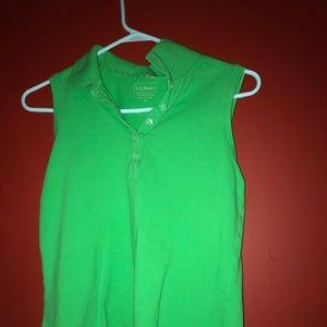 Light green L.L. Bean sleeveless Shirt